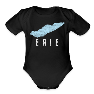 Baby & Toddler Shirts ~ Baby Short Sleeve One Piece ~ Just Lake Erie