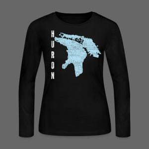 Just Lake Huron - Women's Long Sleeve Jersey T-Shirt