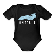 Baby & Toddler Shirts ~ Baby Short Sleeve One Piece ~ Just Lake Ontario