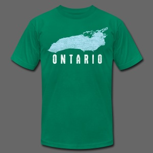 Just Lake Ontario - Men's T-Shirt by American Apparel