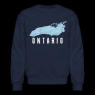Long Sleeve Shirts ~ Men's Crewneck Sweatshirt ~ Just Lake Ontario