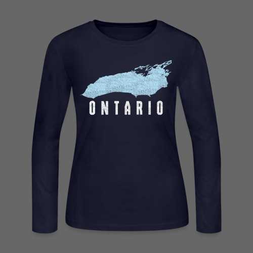 Just Lake Ontario - Women's Long Sleeve Jersey T-Shirt