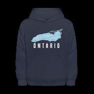 Sweatshirts ~ Kids' Hoodie ~ Just Lake Ontario