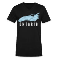 T-Shirts ~ Men's V-Neck T-Shirt by Canvas ~ Just Lake Ontario