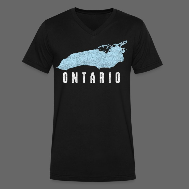 Just Lake Ontario - Men's V-Neck T-Shirt by Canvas