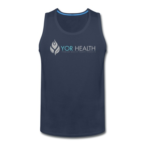 Mens Navy Singlet - Men's Premium Tank