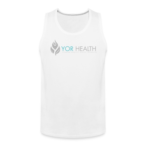 Mens White Singlet - Men's Premium Tank