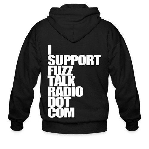 I Support FuzzTalkRadio Dot Com - Men's Zip Hoodie