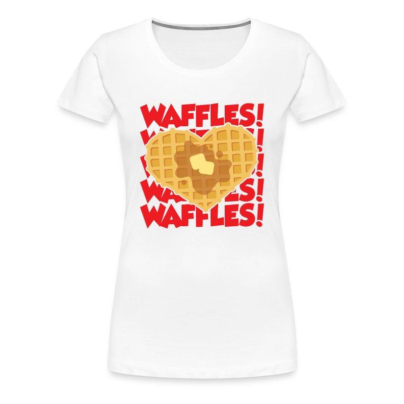 waffles - Women's Premium T-Shirt