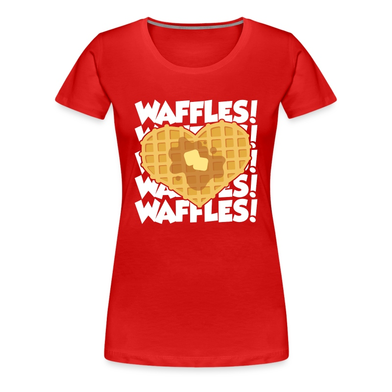 waffles (light) - Women's Premium T-Shirt