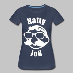 Natty Joh Women's T - Blue (Premium) - Women's Premium T-Shirt