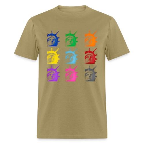 Statue of Liberty -Retro Warhol T-Shirt - Men's T-Shirt