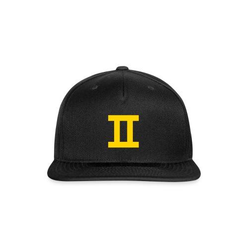 BlackII Snapback - Snap-back Baseball Cap