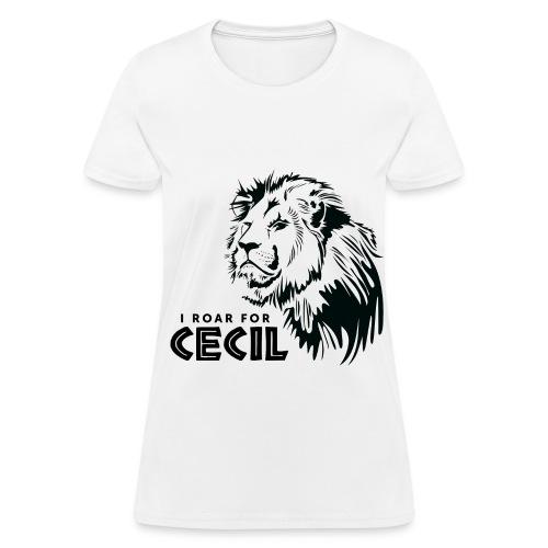 #CecilTheLion t-shirt - Women - Black print - Women's T-Shirt