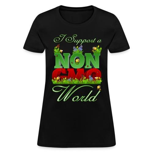 NON GMO WORLD - Women's T-Shirt