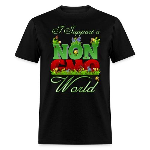 NON GMO WORLD - Men's T-Shirt