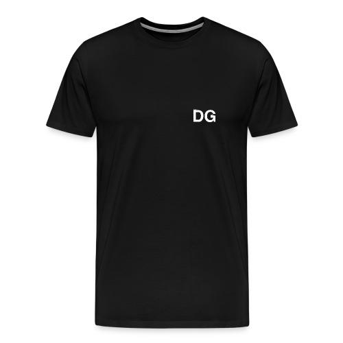 DG Plain Logo WHT - Men's Premium T-Shirt