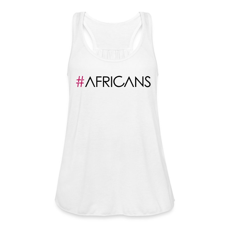 #AFRICANS White Flowy Tank - Women's Flowy Tank Top by Bella