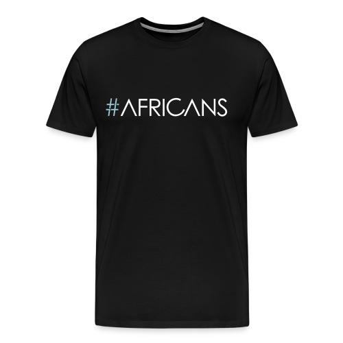 #AFRICANS - Male - Black Tee - Men's Premium T-Shirt