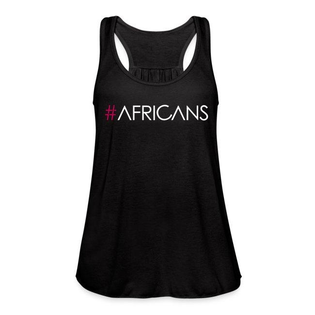 #Africans Black Flowy Tank