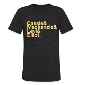 Character List Shirt - Unisex Tri-Blend T-Shirt by American Apparel