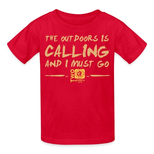 The outdoors is calling - Kids' T-Shirt