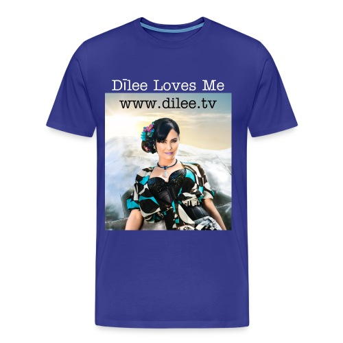 Dīlee blue silver up to size 5X - Men's Premium T-Shirt