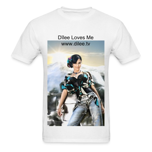 Dīlee loves me silver blue - Men's T-Shirt