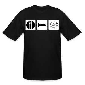 Eat. Sleep. Pop! - Men's Tall T-Shirt