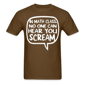 Math class scream mens dark - Men's T-Shirt