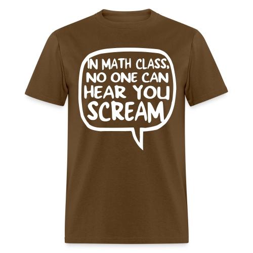 Math class scream mens dark - Men's T-Shirt