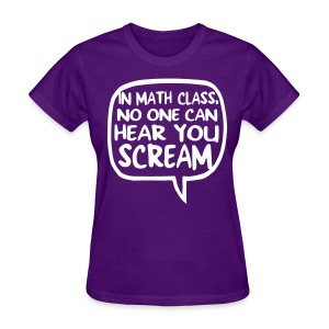 Math class scream womens dark - Women's T-Shirt