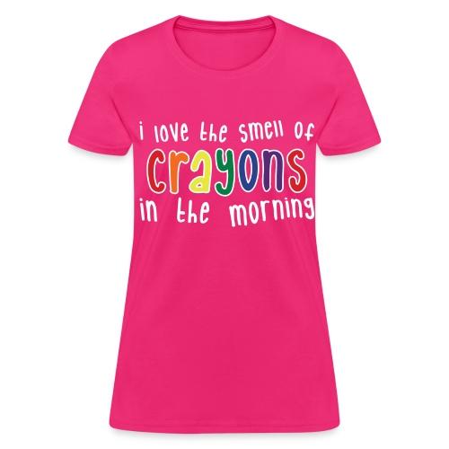 Crayons Womens dark - Women's T-Shirt