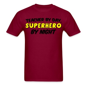 Teacher and Superhero Men yellow - Men's T-Shirt