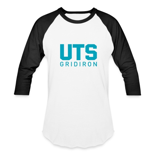 UTS Gridiron Long Sleeve T-shirt - White/Black - Baseball T-Shirt