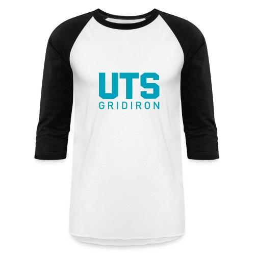 UTS Gridiron Long Sleeve T-shirt - White/Black - Baseball T-Shirt