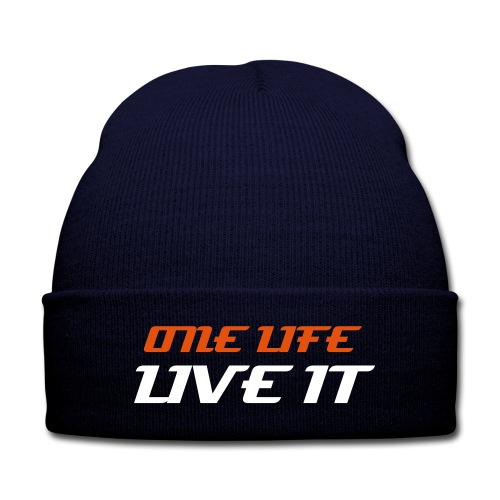 Firelake One Life Knitted Hat - Knit Cap with Cuff Print