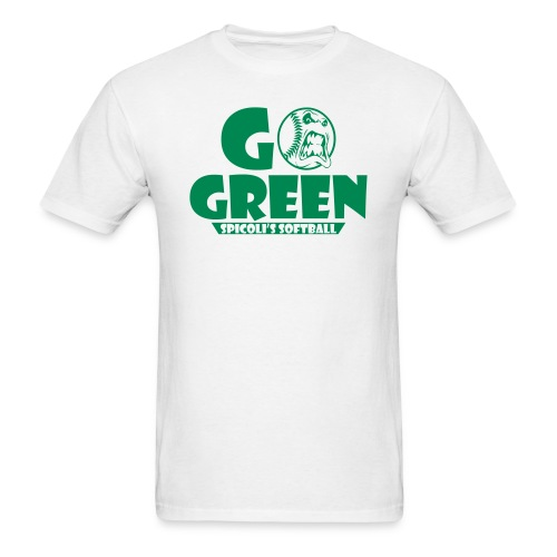 Spicoli's Softball Go Green Mens (White) - Men's T-Shirt