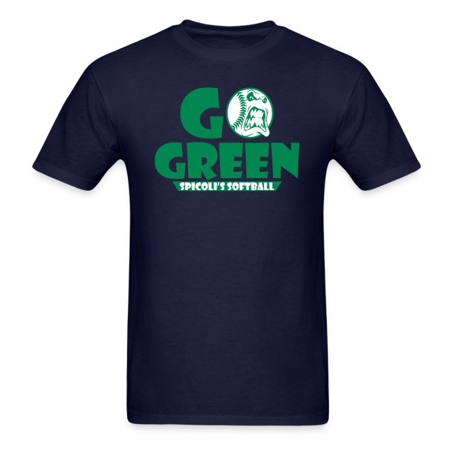 Spicoli's Softball Go Green Mens Tee (Navy)