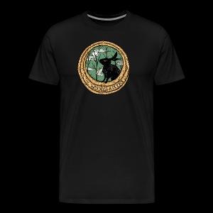 The Woodshedders' Black Rabbit Men's T-Shirt - Men's Premium T-Shirt