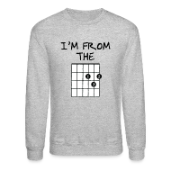 Long Sleeve Shirts ~ Men's Crewneck Sweatshirt ~ Detroit Guitar Shirt