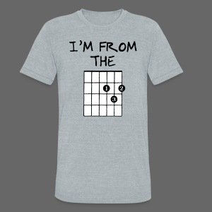 Detroit Guitar Shirt - Unisex Tri-Blend T-Shirt by American Apparel