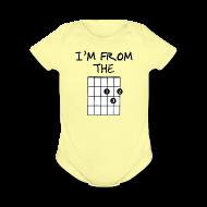 Baby & Toddler Shirts ~ Baby Short Sleeve One Piece ~ Detroit Guitar Shirt