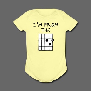 Detroit Guitar Shirt - Short Sleeve Baby Bodysuit