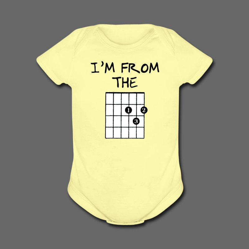 Detroit Guitar Shirt - Short Sleeve Baby Bodysuit