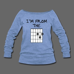 Detroit Guitar Shirt - Women's Wideneck Sweatshirt