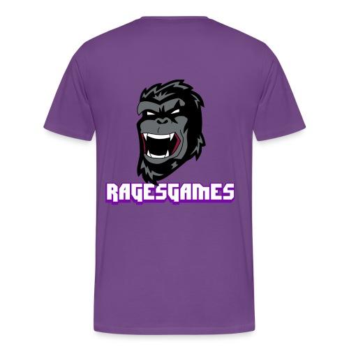 RagesGames Logo Guys Tee logo on back - Men's Premium T-Shirt