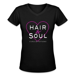 Hair & Soul - Women's V-Neck T-Shirt