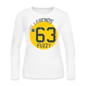 1265 Legends #63 Fuzzy Ladies Long Sleeve T Shirt - Women's Long Sleeve Jersey T-Shirt