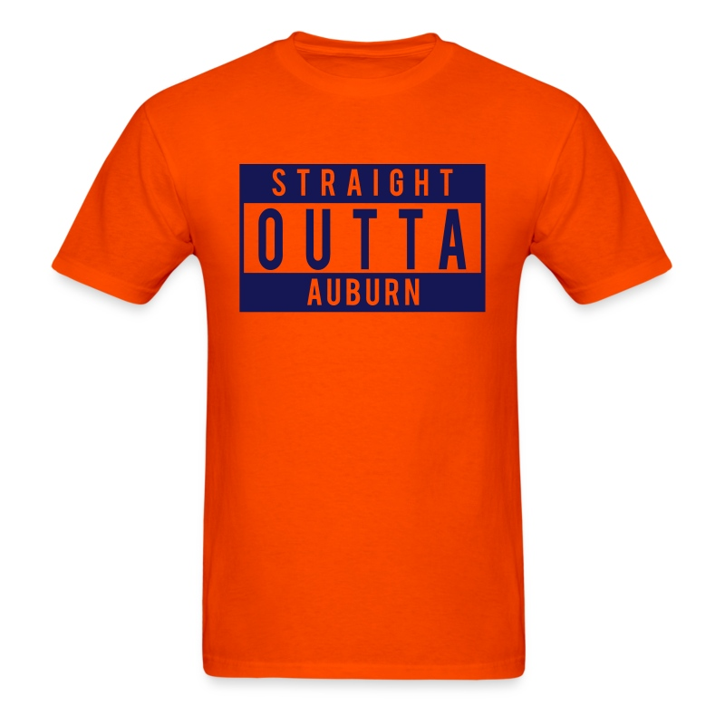 Straight outta auburn t shirt spreadshirt for Straight from the go shirt